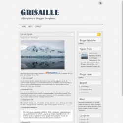 Grisaille Blogger Template