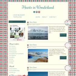 Hearts in Wonderland Blogger Template