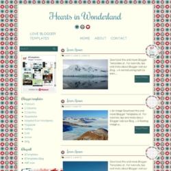 Hearts in Wonderland Blogger Template