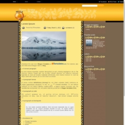 Honey Aroma Blogger Template