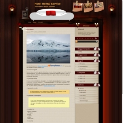 Hotel Rental Service Blogger Template