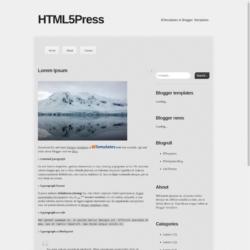 HTML5Press Blogger Template