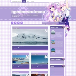 Hyperdimension Neptunia Blogger Template
