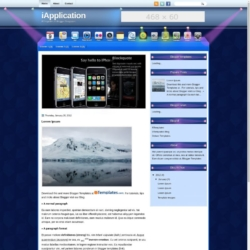 iApplication Blogger Template