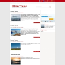 iClean Theme Blogger Template