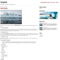 Incipient Blogger Template