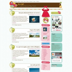 Its a Girl Blogger Template