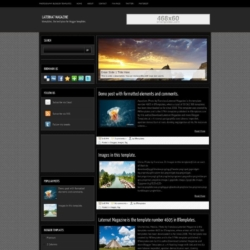 Laternat Magazine Blogger Template