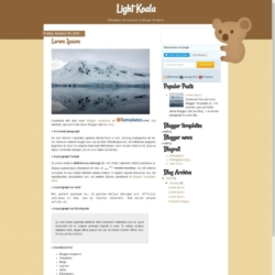 Light Koala Blogger Template