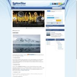 LightenBlue Blogger Template