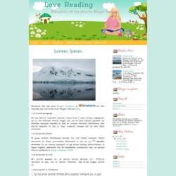 Love Reading Blogger Template