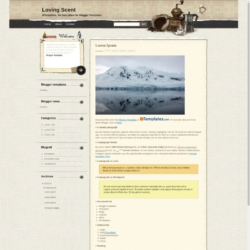 Loving Scent Blogger Template