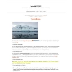 Magnifique Blogger Template