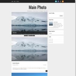 Main Photo Blogger Template
