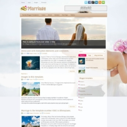 Marriage Blogger Template