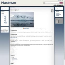 Maximum Blogger Template