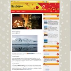 Merry Christmas Blogger Template