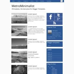 MetroMinimalist Blogger Template