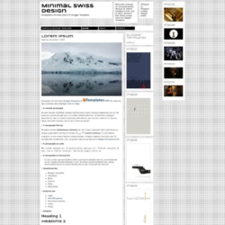 Minimal Swiss Design Blogger Template