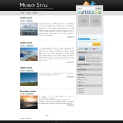Modern Style Blogger Template
