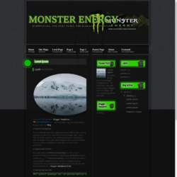 Monster Energy Blogger Template
