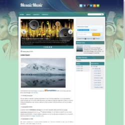 MosaicMusic Blogger Template