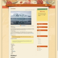 Mouth-watering Sprites Blogger Template