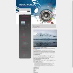 Music World Blogger Template