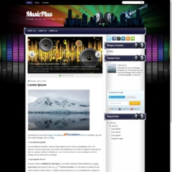 MusicPlus Blogger Template