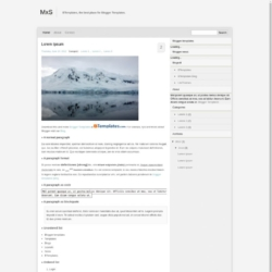 MxS Blogger Template
