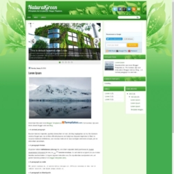 NaturalGreen Blogger Template