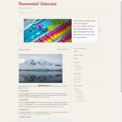 Neonsential Reloaded Blogger Template