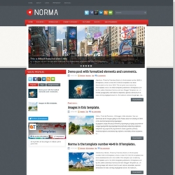 Norma Blogger Template