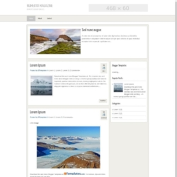 Numerto Magazine Blogger Template