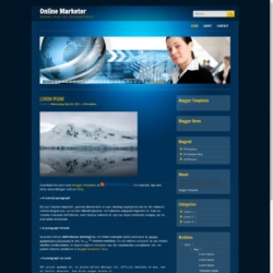 Online Marketer Blogger Template