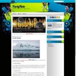 PartyNote Blogger Template