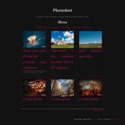 Photosheet Blogger Template