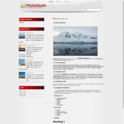 PhotoStudio Blogger Template