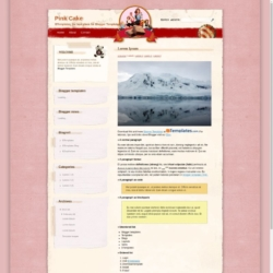 Pink Cake Blogger Template