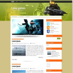 Play Games Blogger Template