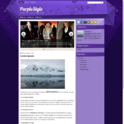 PurpleStyle Blogger Template