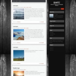 Quantez Blogger Template