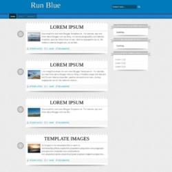 Run Blue Blogger Template