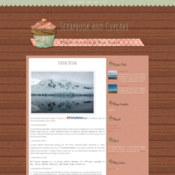 Scrapbook and Cupcake Blogger Template