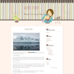 Secret Diary Blogger Template