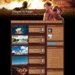 Shingeki No Kyojin Blogger Template