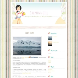 Shopping girl Blogger Template