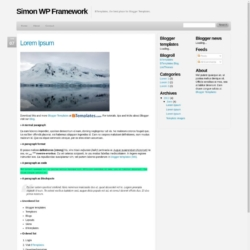 Simon WP Framework Blogger Template