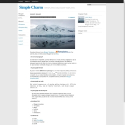Simple Charm Blogger Template