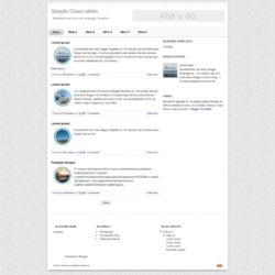 Simple Clean white Blogger Template